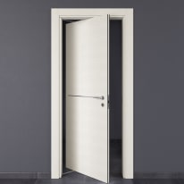 Porta da interno rototraslante Hollow bianco matrix 80 x H 210 cm sx