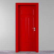 Porta da interno battente Coconut Groove rosso 70 x H 210 cm sx