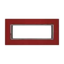 Placca 6 moduli BTicino Axolute rosso china