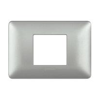 Placca 2 moduli BTicino Matix argento