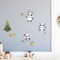 Sticker ML xmas Panda