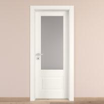 Porta da interno battente Shibuya Vetro Bianco 80 x H 210 cm dx