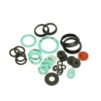 31 guarnizioni piatte, coniche, o-ring in fibra, PTFE, gomma, esente amianto