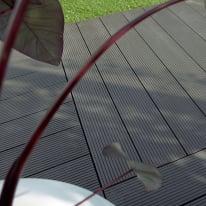 Listone composite zigrinato 15 x 120  cm x 36  mm grigio