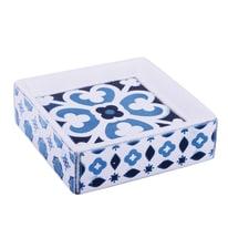 Porta sapone Mosaic bianco/blu