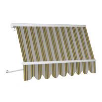 Tenda da sole a caduta senza cassone Naterial 250 x 250 cm verde/giallo