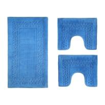 Set tappeti bagno Ischia azzurro