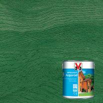 Impregnante ad acqua 6 anni V33 Acqua-Gel verde cerata 2,5 L