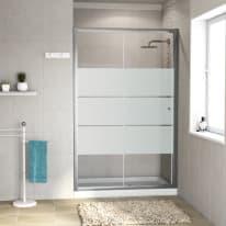 Porta doccia scorrevole Dado 137-140, H 185 cm cristallo 5 mm serigrafato/silver