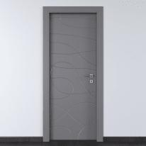 Porta da interno battente Wind Ash cenere 80 x H 210 cm sx