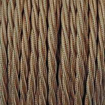 Cavo treccia tessile Merlotti 0,75 mm oro, matassa 10 m