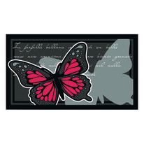 Zerbino Farfalla grigio 40 x 70 cm