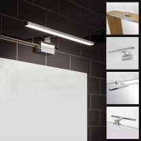 Luce da specchio Slim con kit multi attacco cromo 50 cm 7,8 W 550 Lumen led integrato IP44