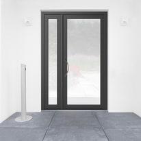 portoncino d'ingresso alluminio Condo7 grigio L 132 x H 210 dx