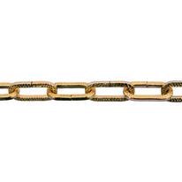 Catena genovese quadra in acciaio ottonata Ø filo 4 mm