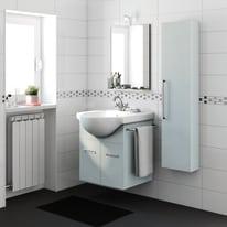 Mobile bagno Ginevra grigio L 56,5 cm