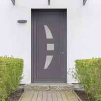 portoncino d'ingresso PVC Modern3 grigio L 90 x H 210 sx