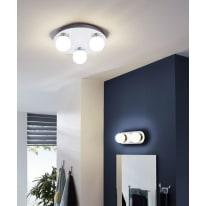 Plafoniera a 3 luci Mosiano cromo, bianco LED integrato