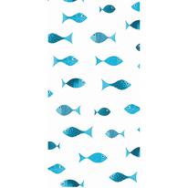 Tenda doccia Scuba blu L 180 x H 200 cm
