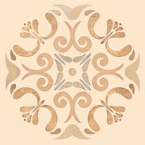 Piastrella Patine 15 x 15 cm arancione, beige