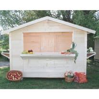 chiosco in legno grezzo Spritz 5,9 m², 3 ribalte