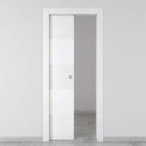Porta da interno scorrevole Melangè bianco 80 x H 210 cm sx