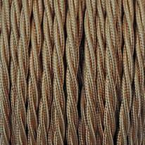 Cavo treccia tessile Merlotti 1,5 mm oro, matassa 25 m