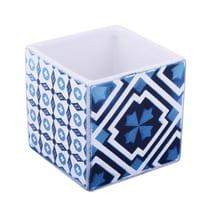 Bicchiere Mosaic bianco/blu