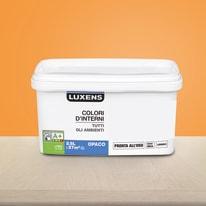 Idropittura lavabile Mano unica Arancio Arancio 5 - 2,5 L Luxens