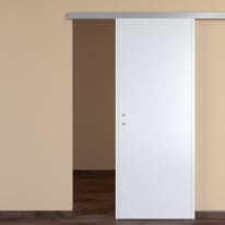 Porta da interno scorrevole One white bianco 80 x H 210 cm reversibile