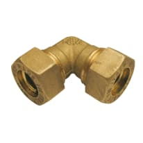 Raccordo a gomito a stringere per tubi rame 16 mm x 16 mm
