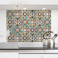 Sticker Kitchen Pannel Tiles green