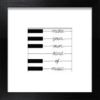 Stampa incorniciata Piano 30 x 30 cm