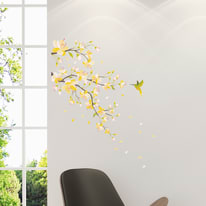 Wallstickers M Yellow branch