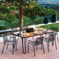Set tavolo e sedie Petra grigio antracite