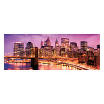 quadro su tela NY violet skyline 60x160