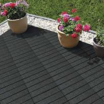 Piastrella Woven 30 x 30  cm x 32  mm grigio scuro