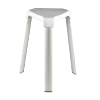 Sgabello Trix in alluminio - 3 gambe bianco