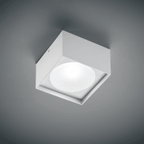 Plafoniera Cube Square 10x10 bianco L 10 x H 7 cm