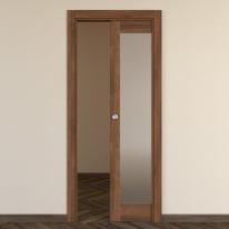 Porta da interno scorrevole Vei noce 80 x H 210 cm reversibile