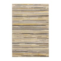 Tappeto Soave stripe multicolore, giallo 133 x 190 cm