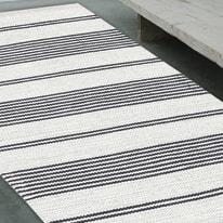 Tappeto Cotone bay stripe grigio 140 x 200 cm