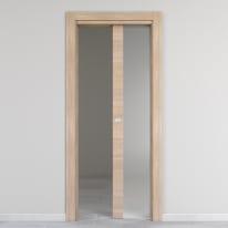 Porta da interno scorrevole Ritz Vetro Rosa del deserto 80 x H 210 cm reversibile