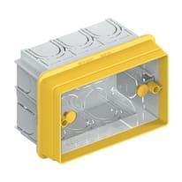 3 scatole rettangolari bticino 503 gialla prezzi e offerte for Scatole per armadi leroy merlin