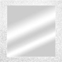 specchio da parete quadrato Glitterata bianco 56,5 x 56,5 cm