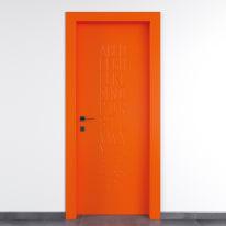 Porta da interno battente Keyboard orange arancio 70 x H 210 cm dx