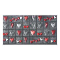 Tappetino cucina antiscivolo Full cuori patch grigio 55 x 180 cm
