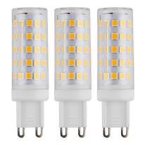 3 lampadine LED G9 =50W luce fredda 360°