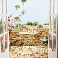Sedia pieghevole Flora Origami verde