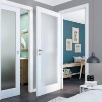 Porta da interno battente Avior bianco 80 x H 210 cm sx